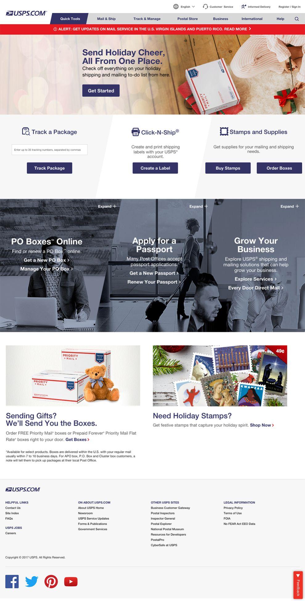 USPS Corporate Homepage