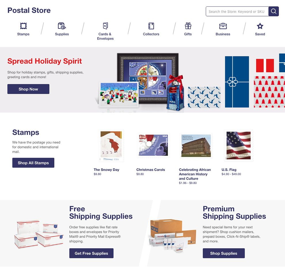 USPS Corporate Product Page