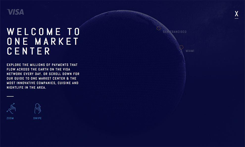 Visa Globe Great Website Design