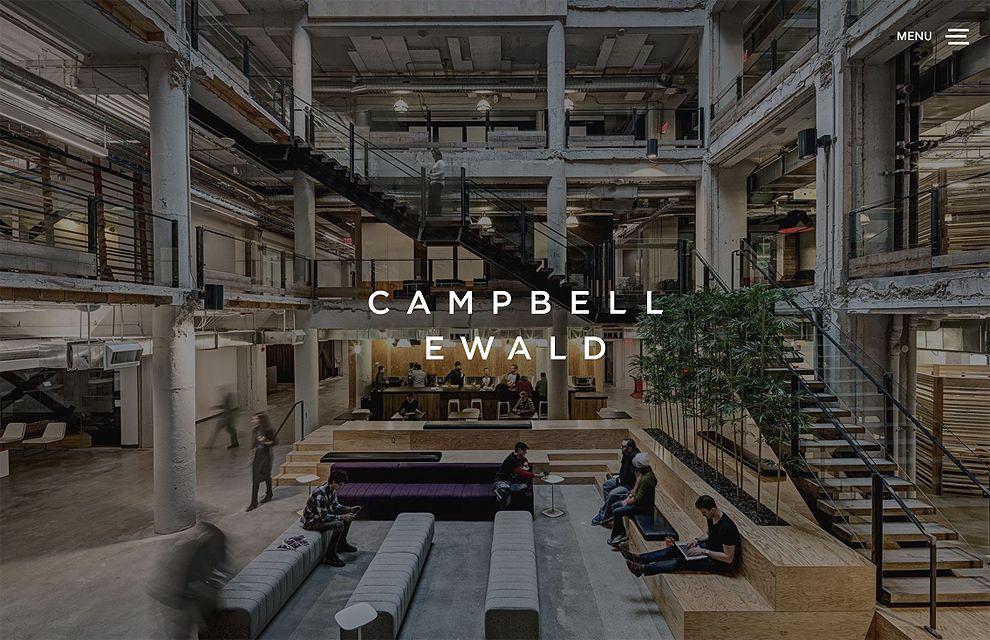 Campbell Ewald Best Web Design Homepage