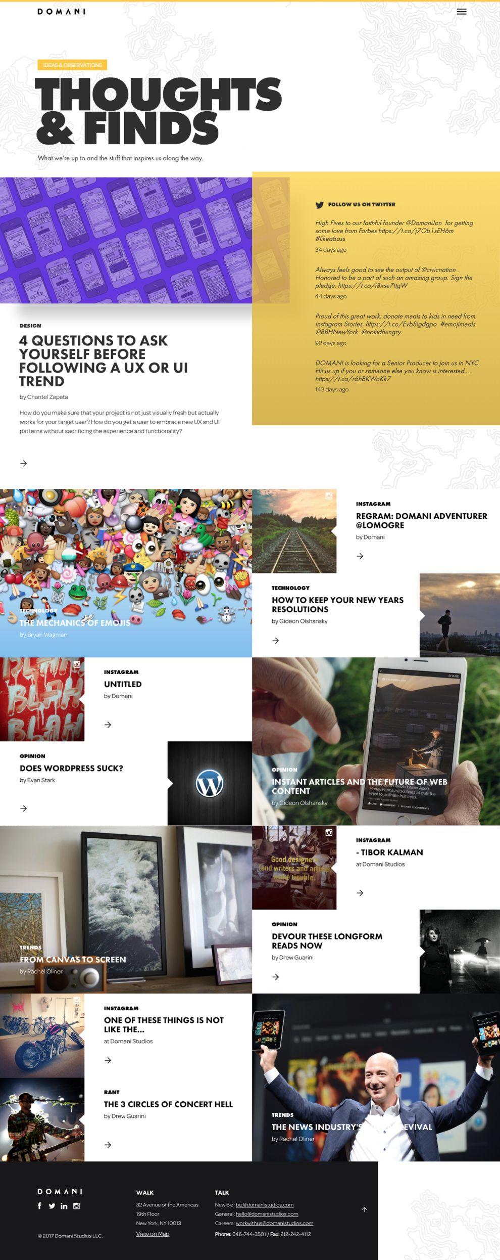 Domani Beautiful Blog Page