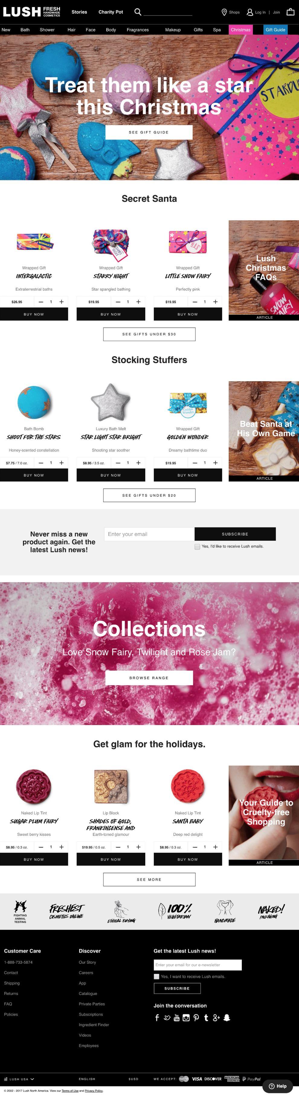 Lush Elegant Homepage