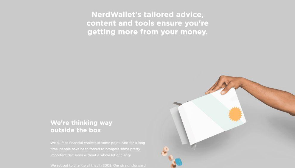 Nerd Wallet Organized Website Design