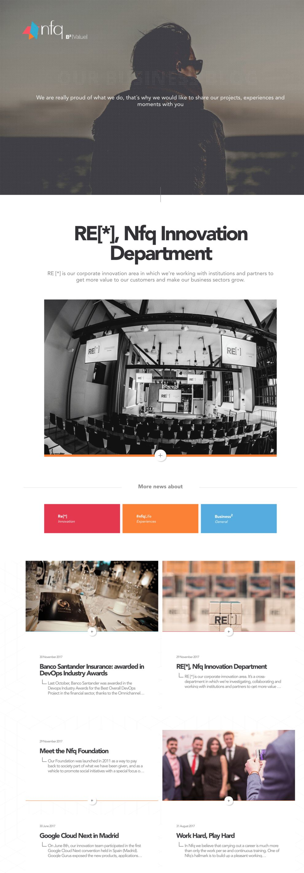 NFQ Gorgeous Blog Page