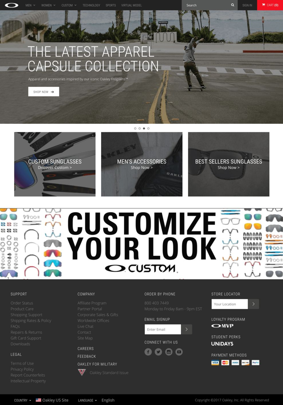 Oakley Awesome Homepage