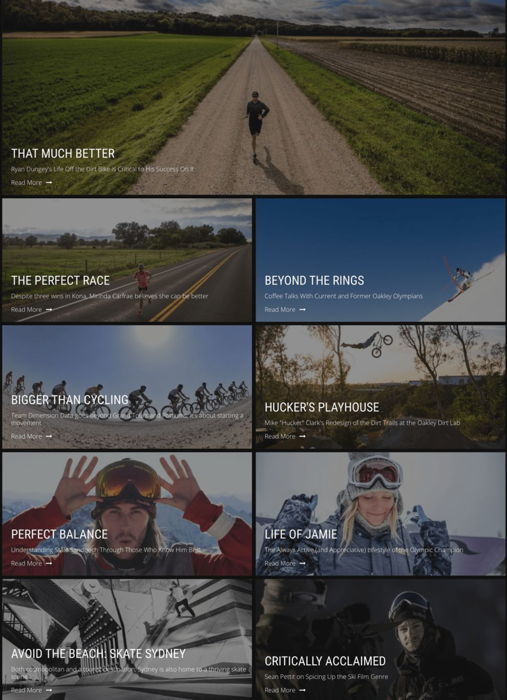 Oakley Awesome Blog Page