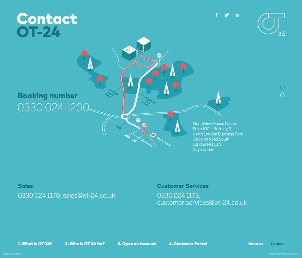 OT-24 Colorful Contact Page