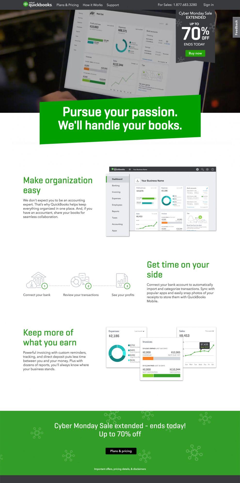 Quickbooks Clean Homepage