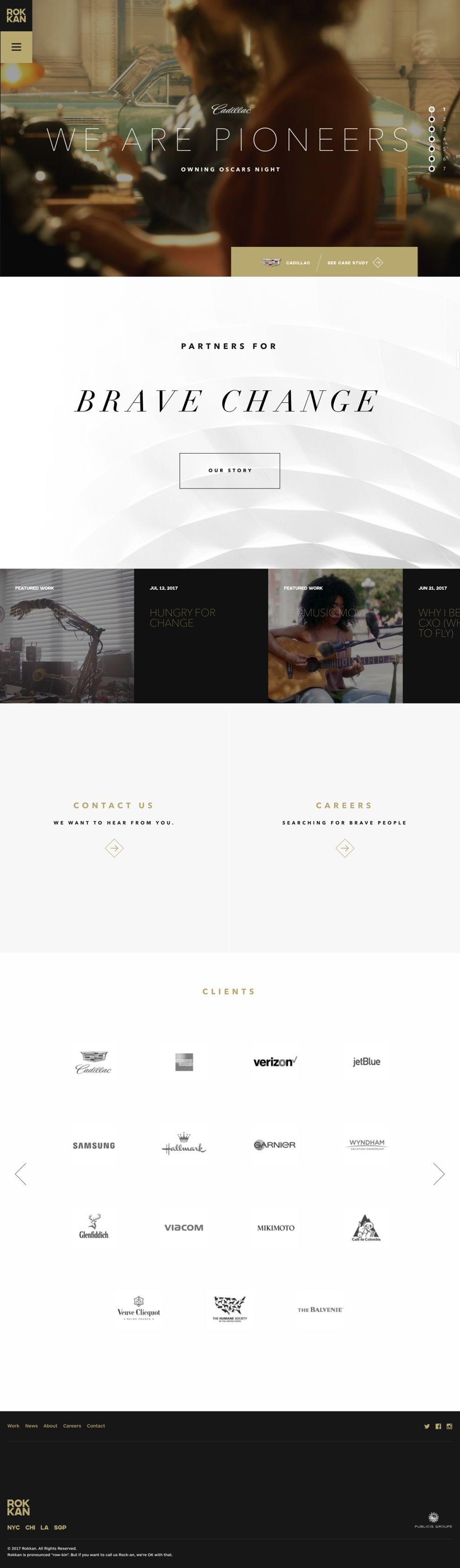 Rokkan Beautiful Homepage