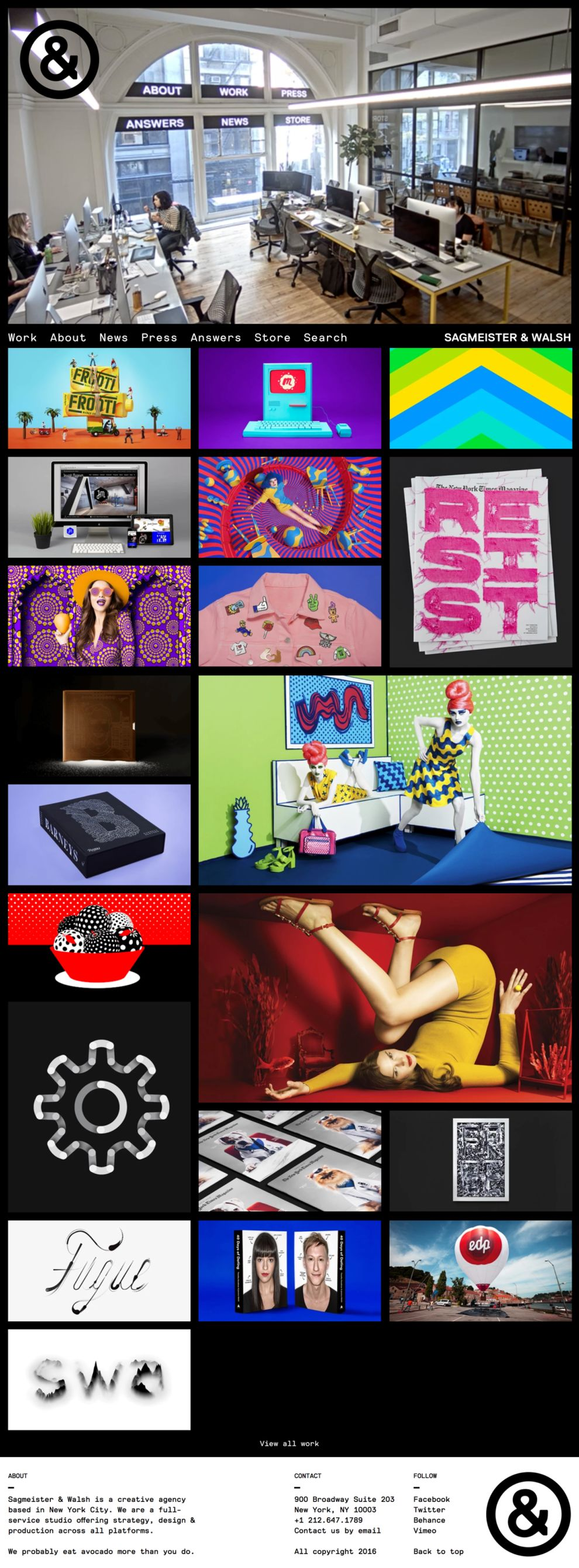 Sagmeister & Walsh Awesome Website Design
