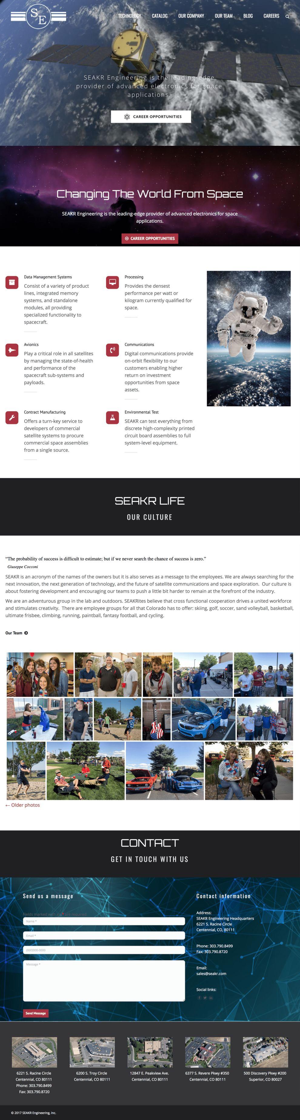 SEAKR Engineering Clean Website Design