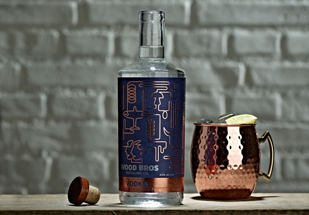 Wood Brothers Vodka Complex Package Design