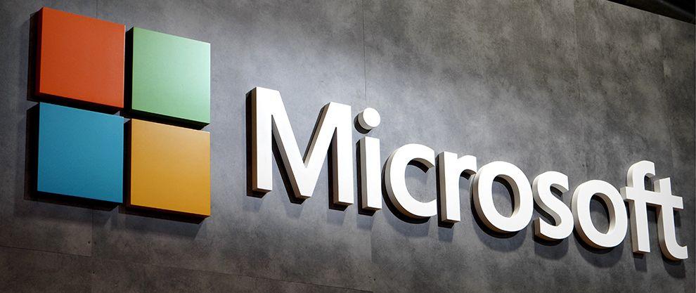 Microsoft Logo Design On Building