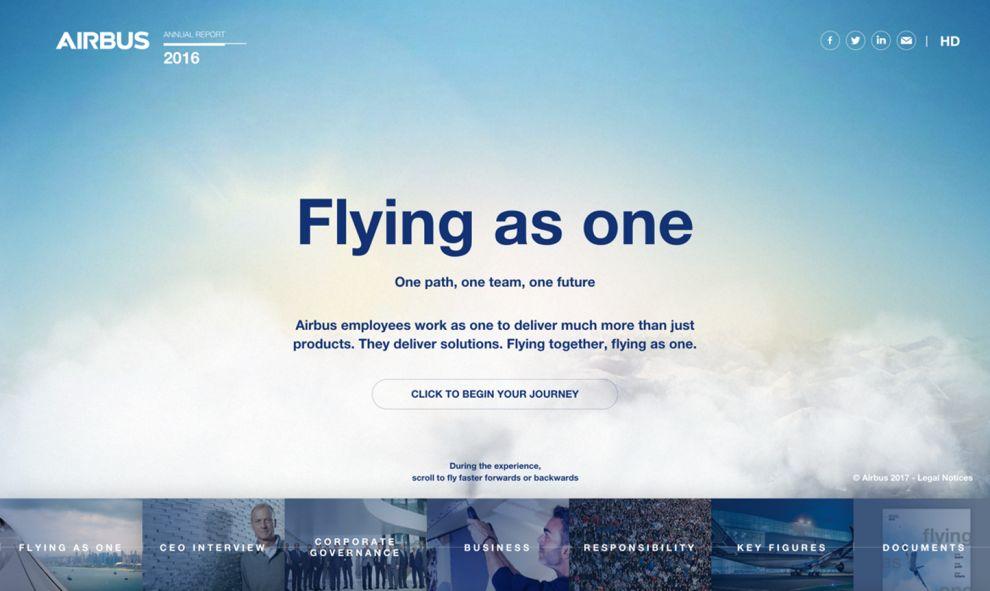 Airbus Beautiful Website Design