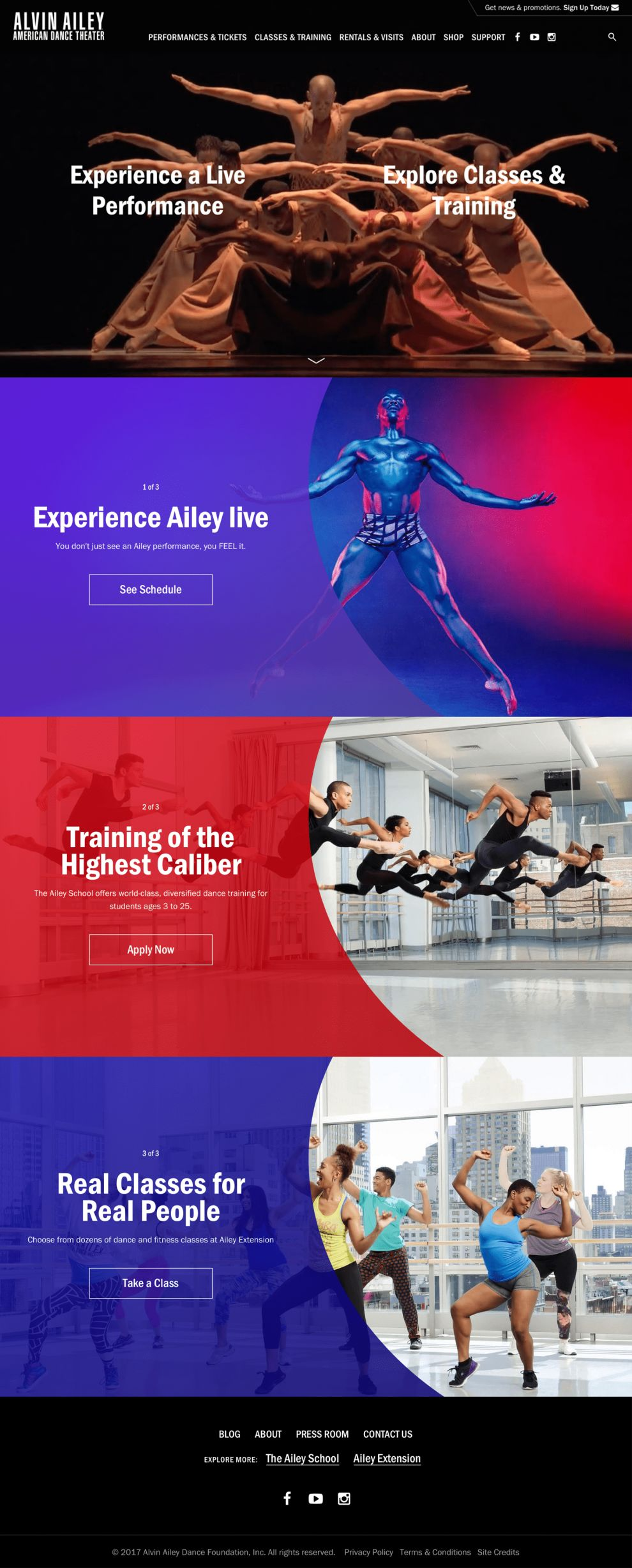 Alvin Ailey Great Homepage Design