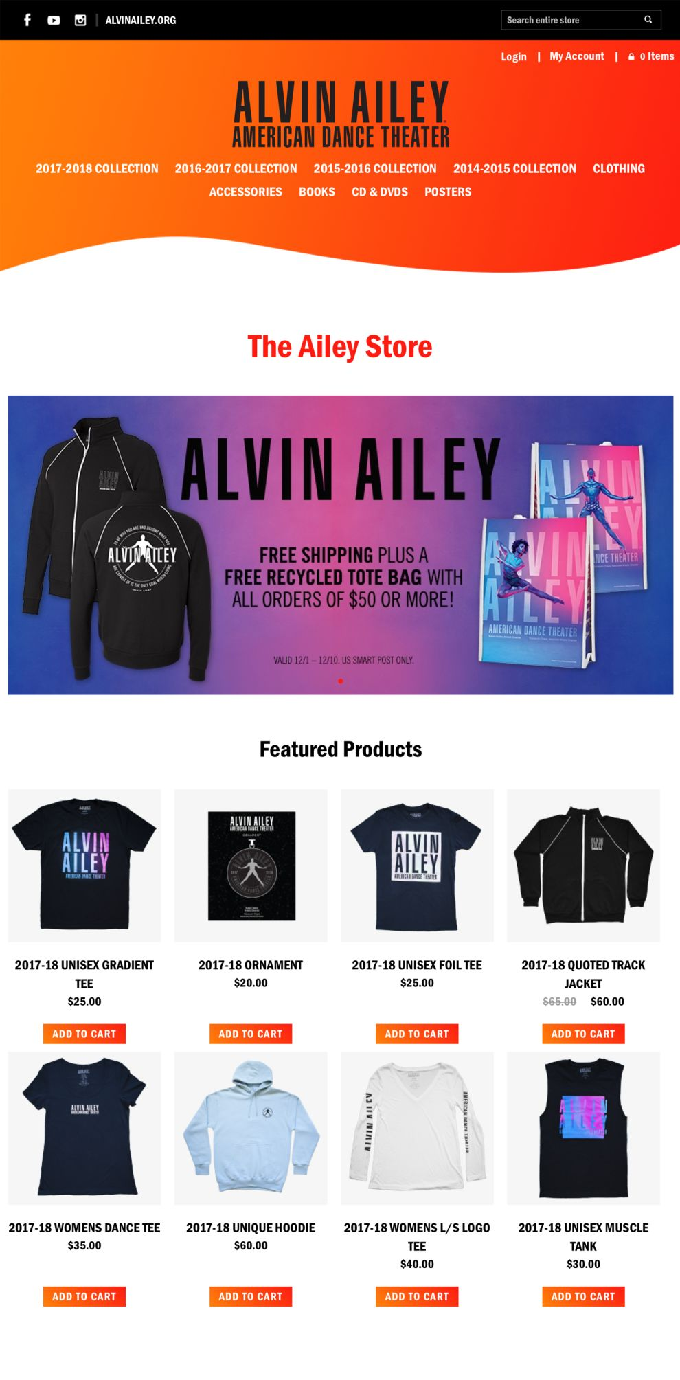 Alvin Ailey Great Product Page