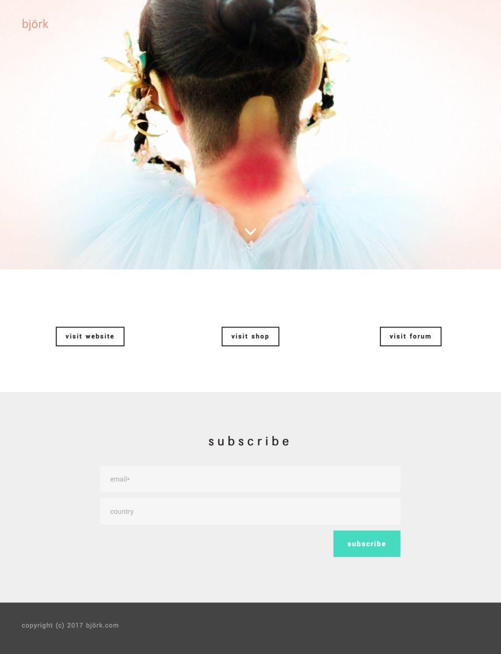 Björk Amazing Homepage