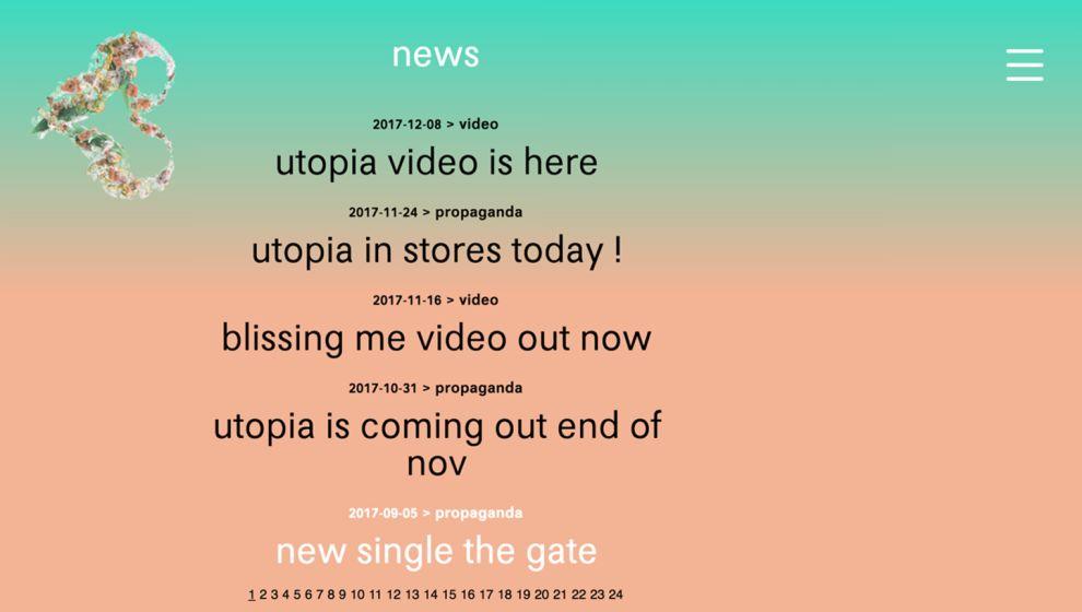 Björk Amazing News Page