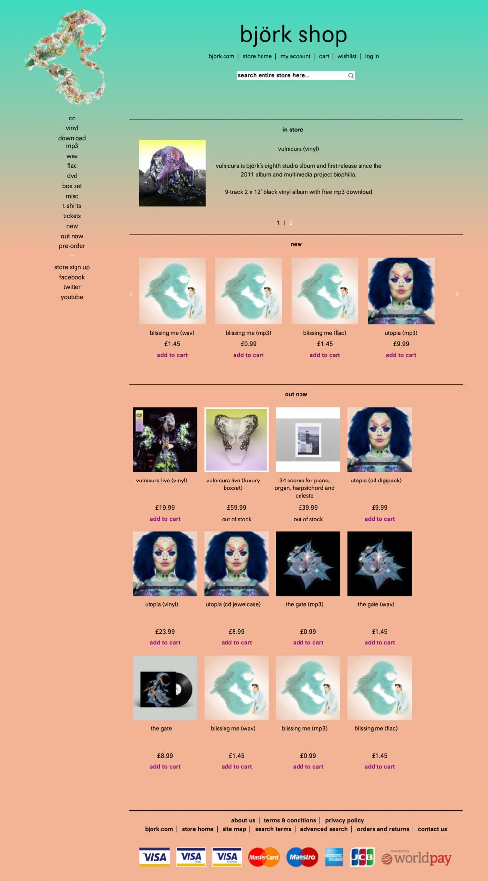 Björk Amazing Product Page
