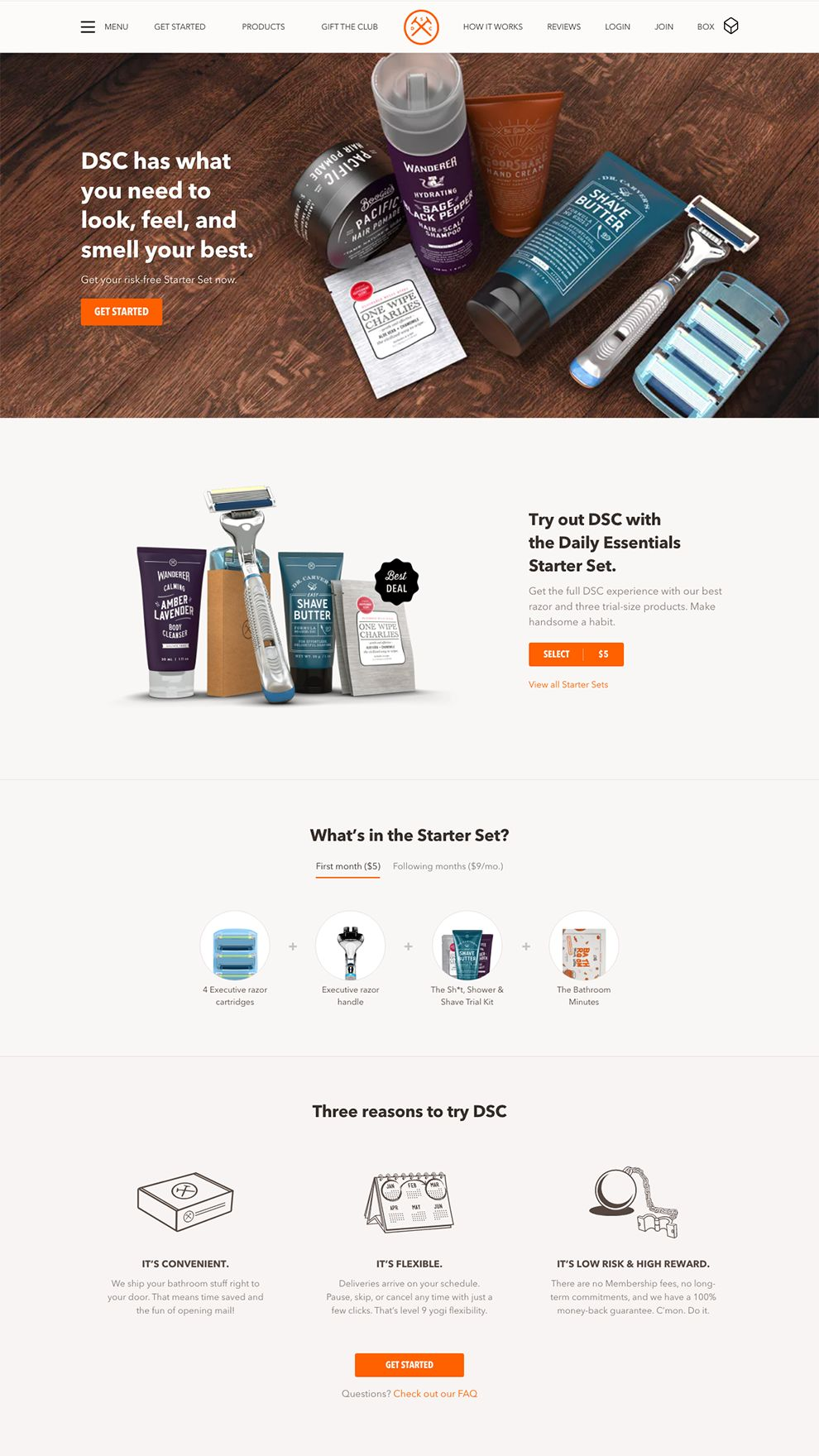 Dollar Shave Club Awesome Homepage