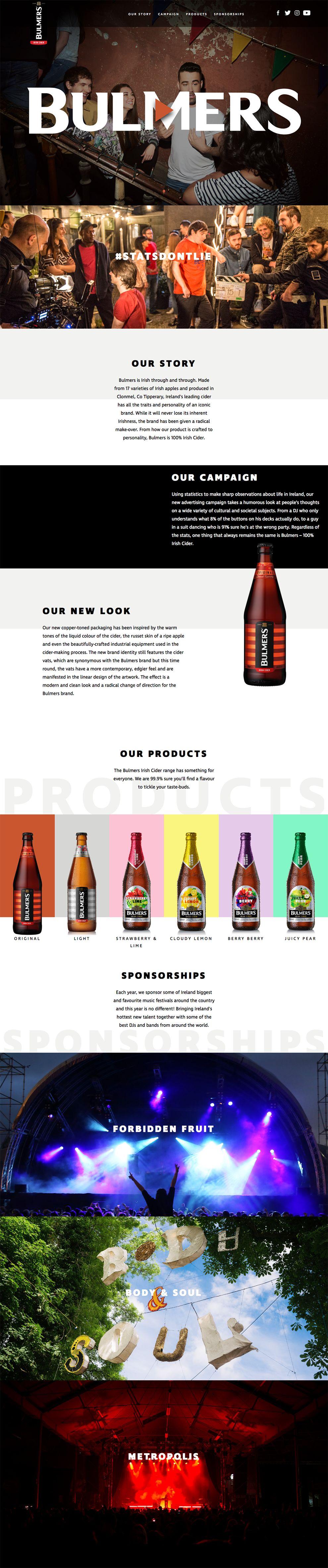 Bulmers Great Website Design