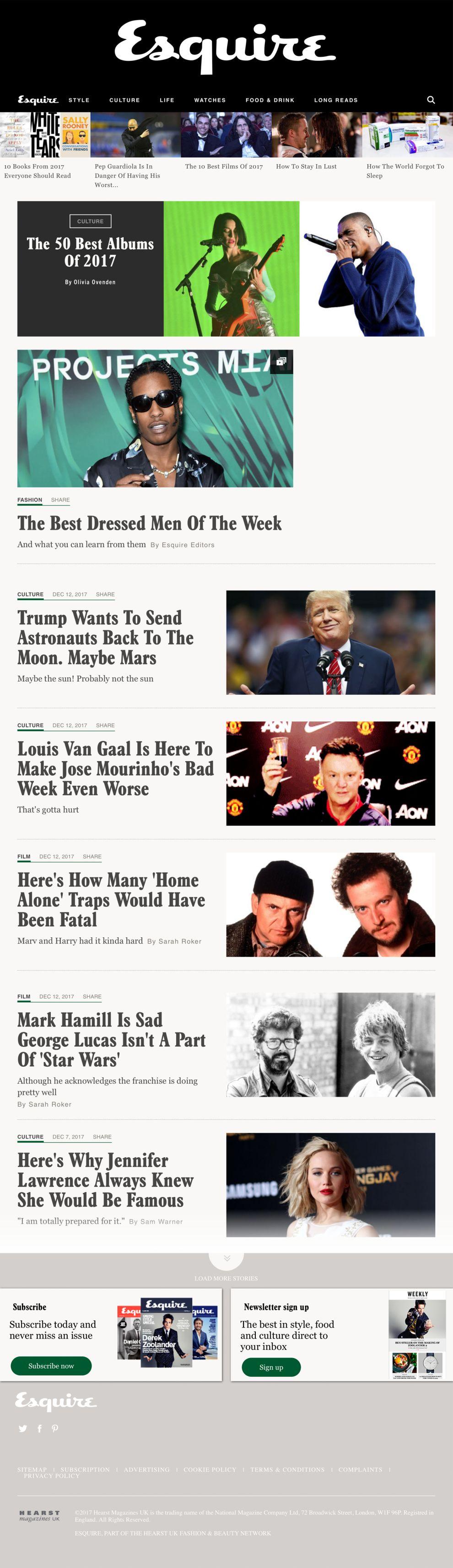 Esquire Minimal Homepage