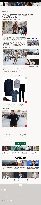Esquire Minimal Blog Page
