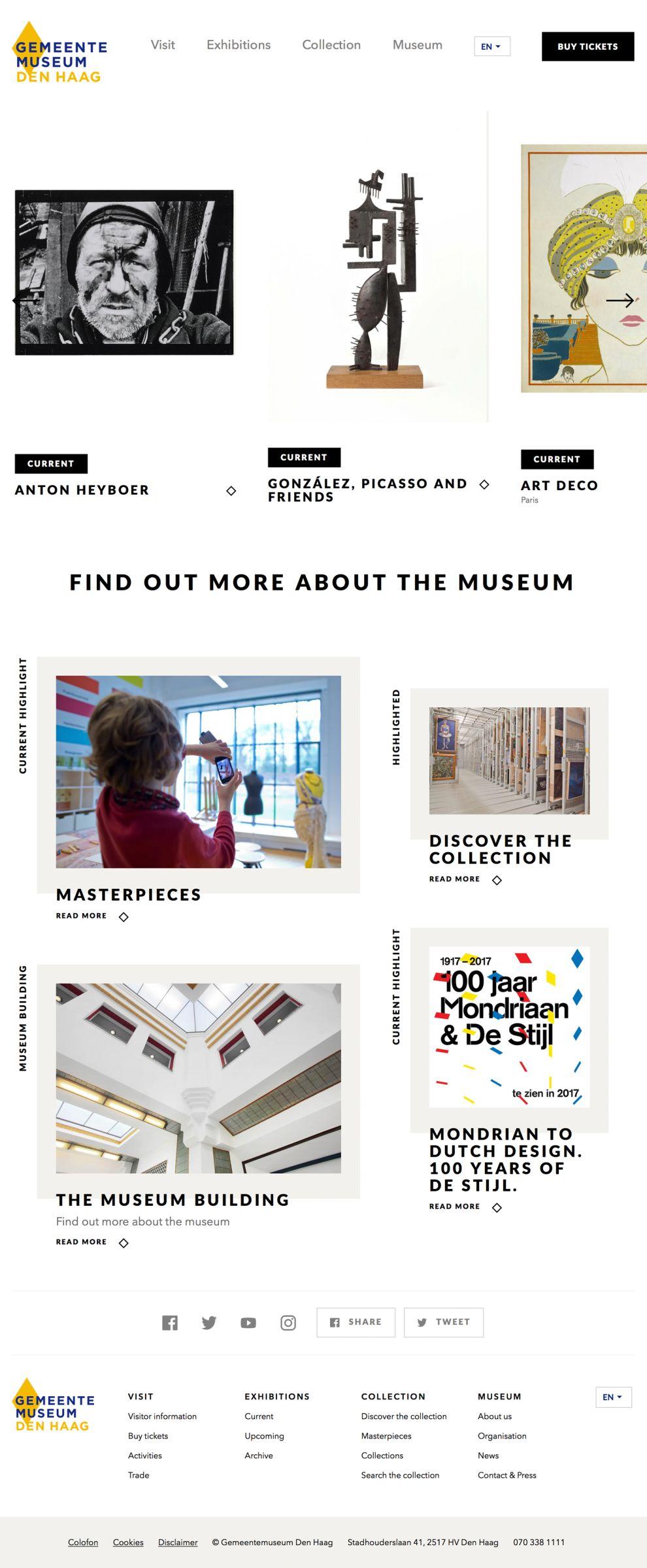 Gemeente Museum Clean Homepage