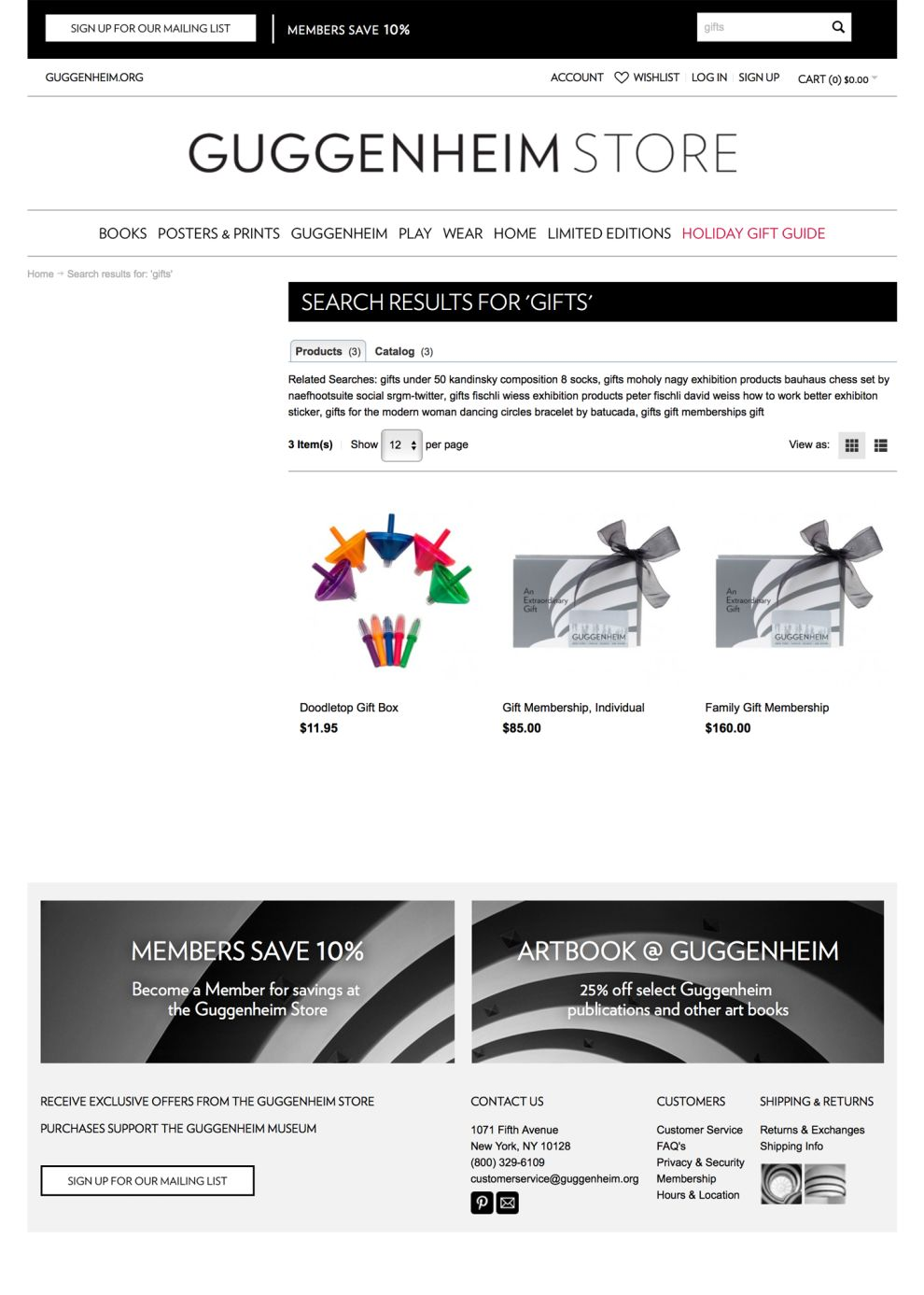 Guggenheim Clean Store Page