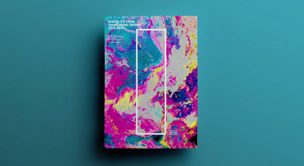 Cool Posters Colorful Print Design