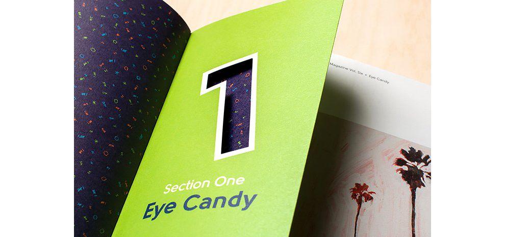 D8 Magazine Vol. Six Fun Print Design