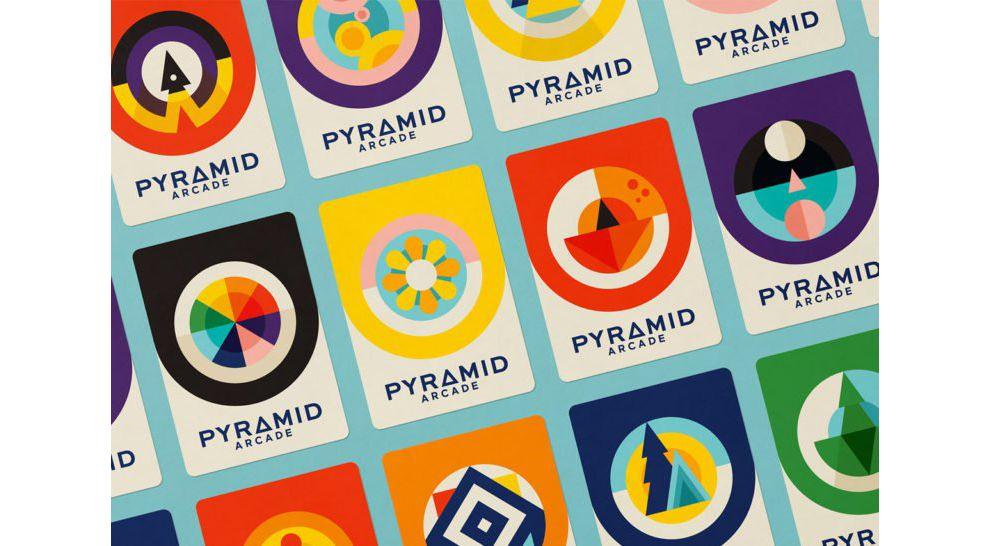 Pyramid Arcade Branding Geometric Package Design