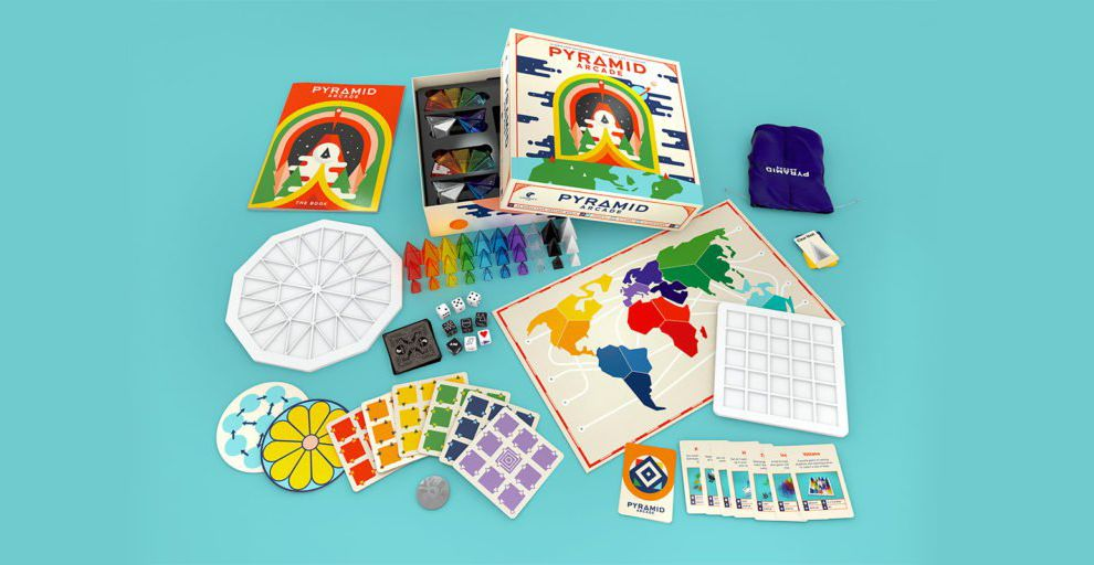 Pyramid Arcade Branding Fun Package Design