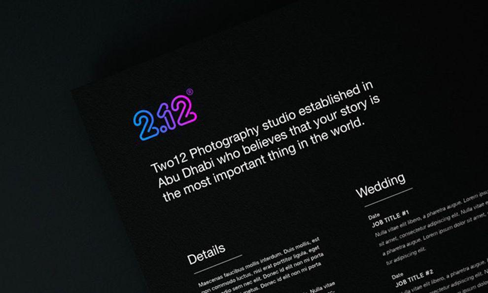 TwoTwelve Studios Gradient Print Design