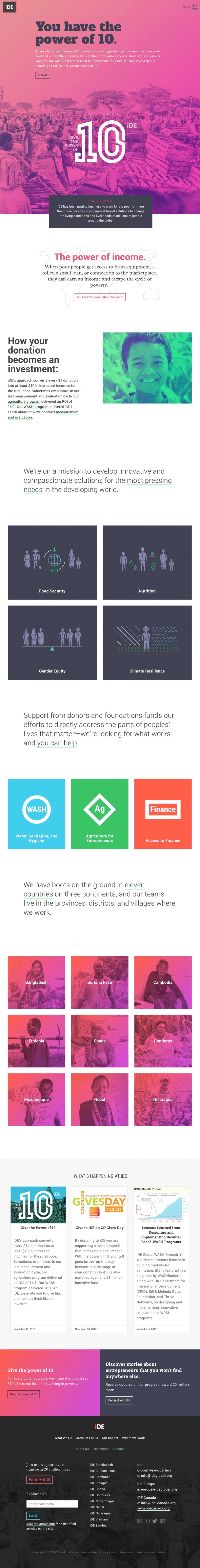iDE Web Design Homepage