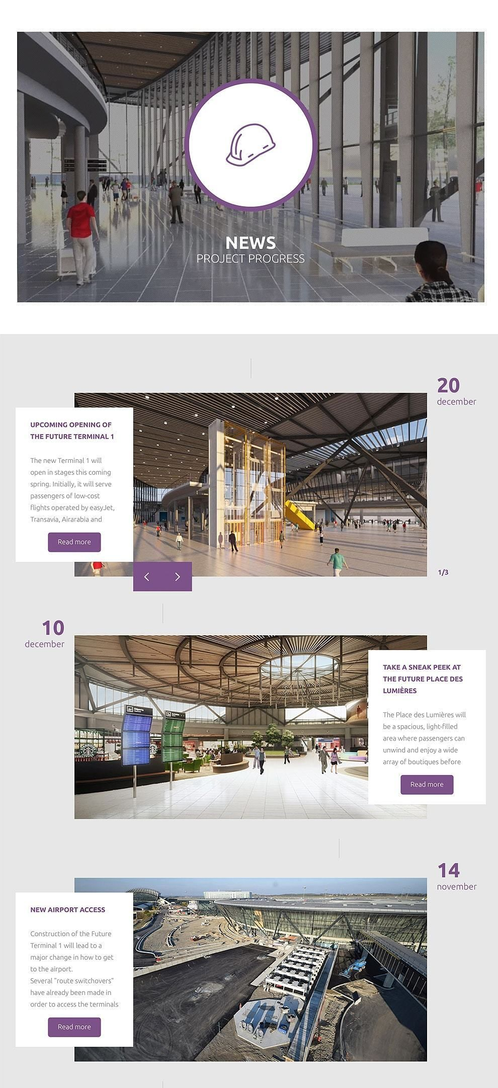 Lyon-Saint Exupery Airport Amazing Website