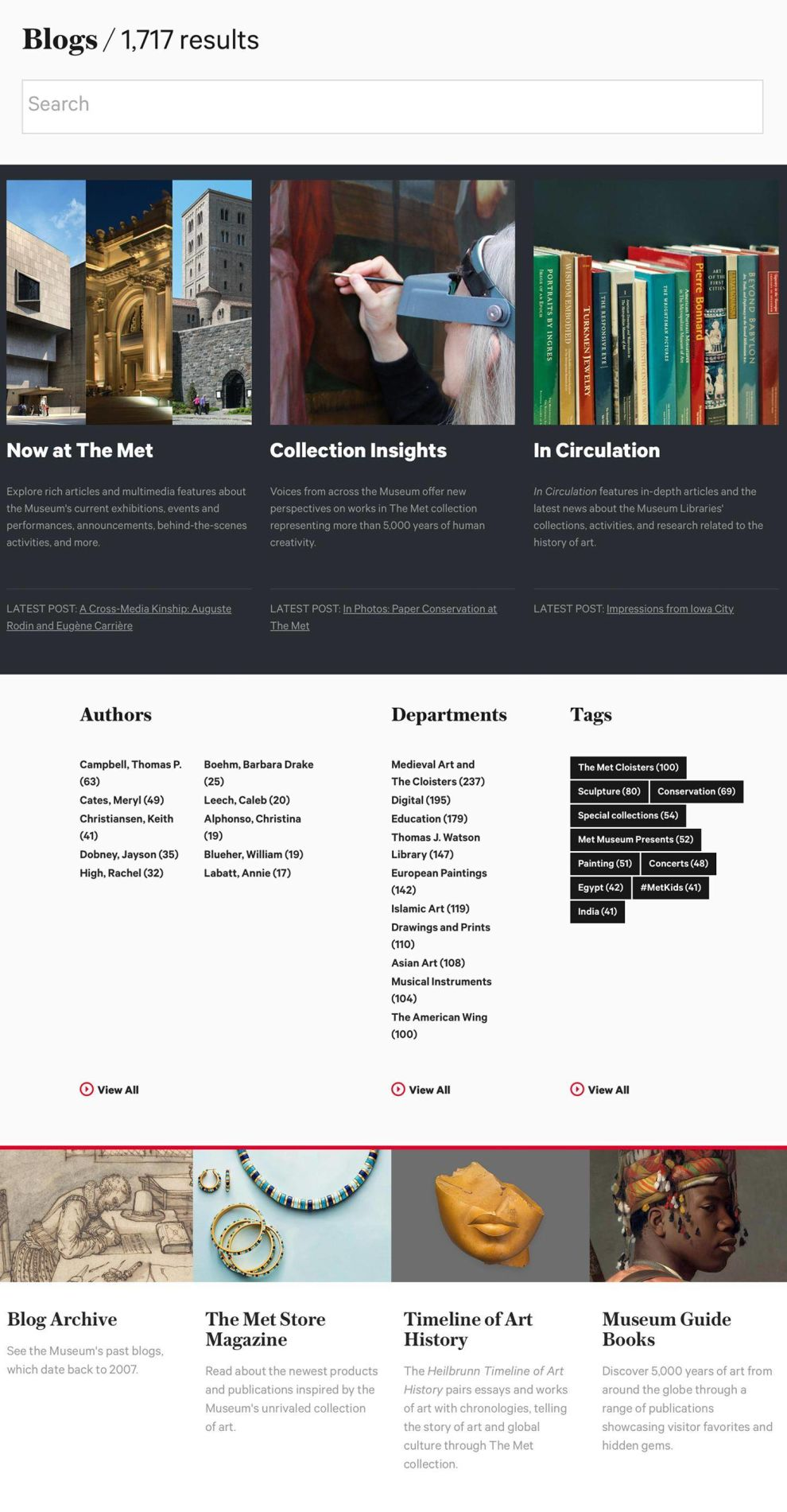 Metropolitan Museum of Art Great Blog Page