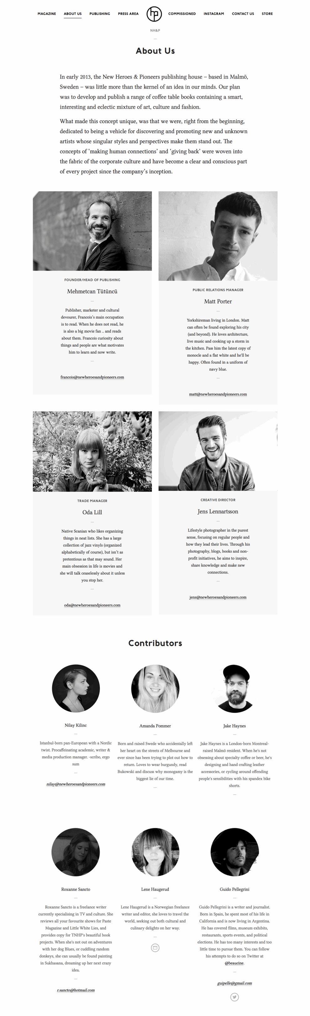 New Heroes & Pioneers Best Web Design