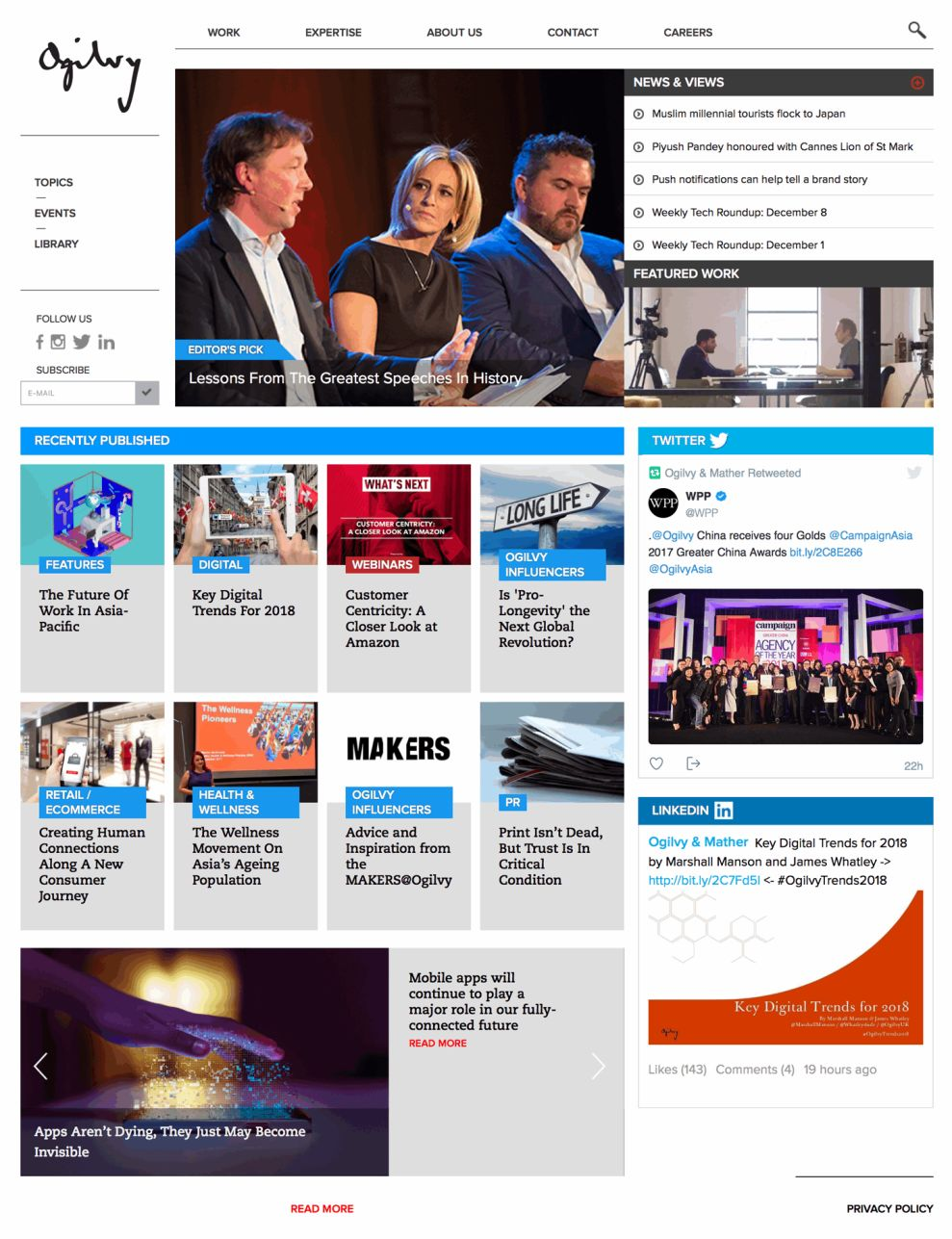 Ogilvy Professional Homepage