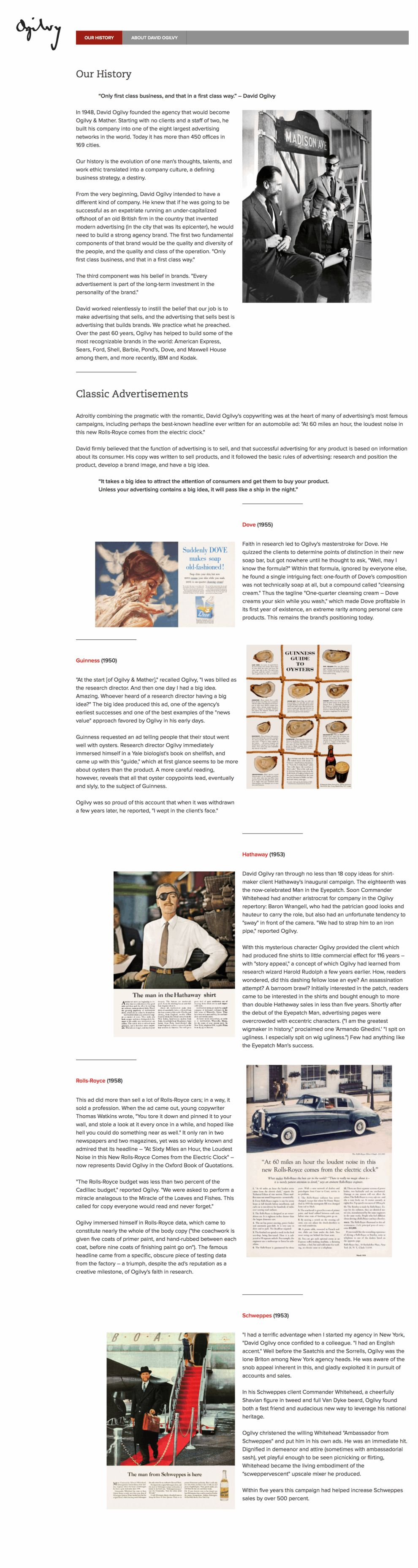 Ogilvy Clean About Page