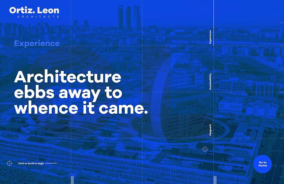 Ortiz León Bold Website Design Sliders Homepage