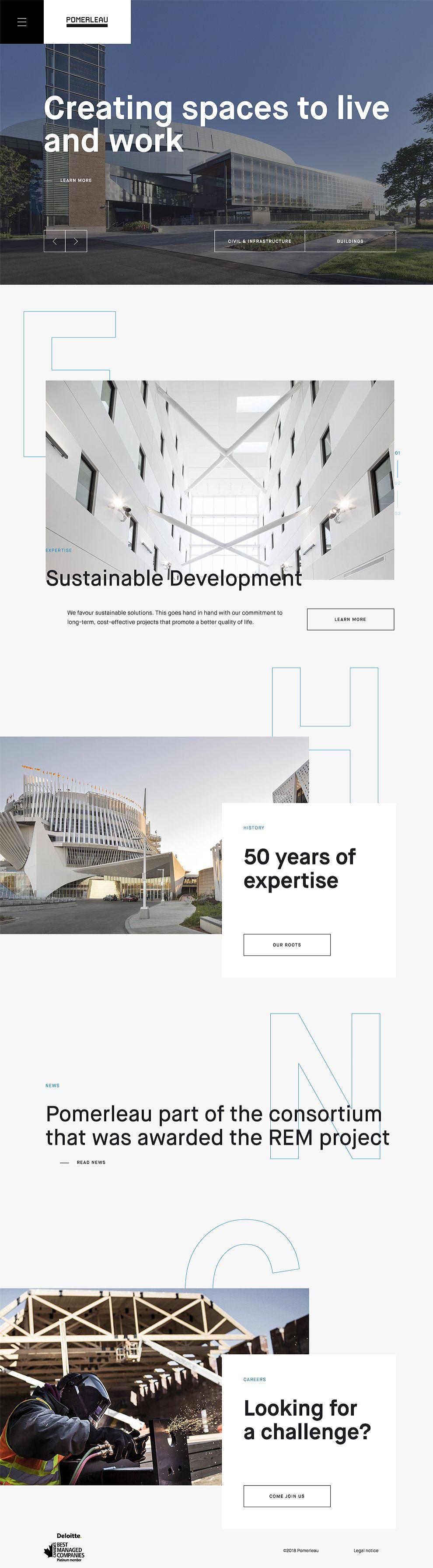 Pomerleau Modern Website Design Homepage