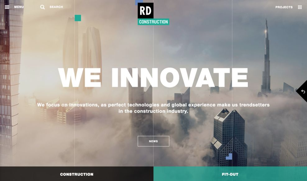 RD Construction Elegant Homepage