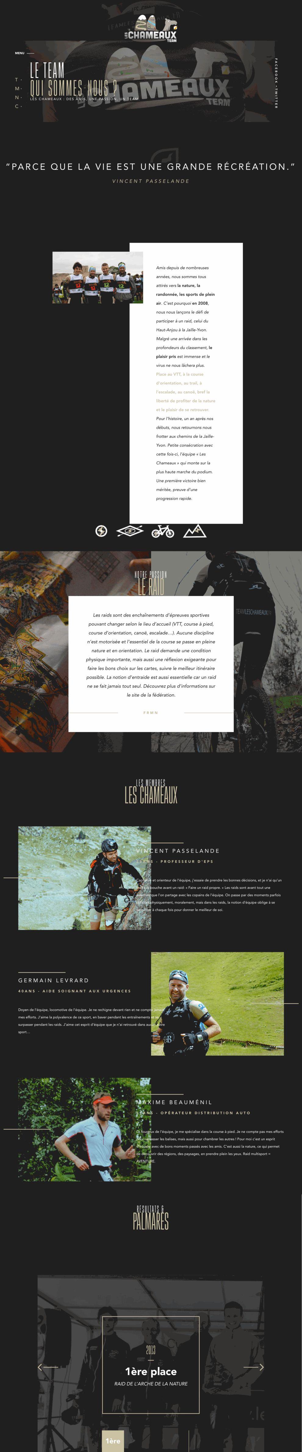 Team Les Chameaux Beautiful About Page