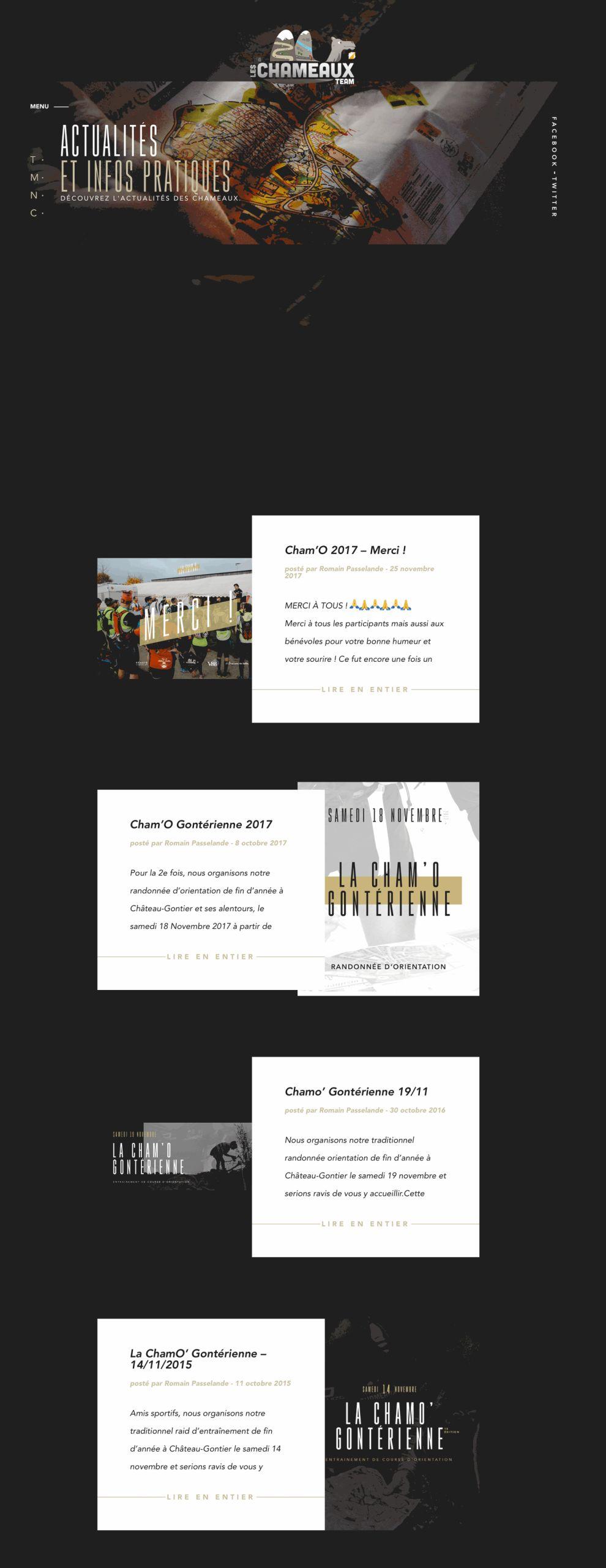 Team Les Chameaux Beautiful News Page