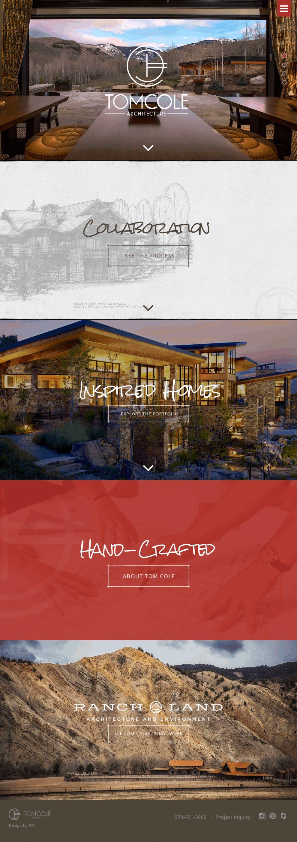 Tom Cole Architect Beautiful Homepage