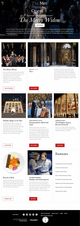 Metropolitan Opera Clean Homepage