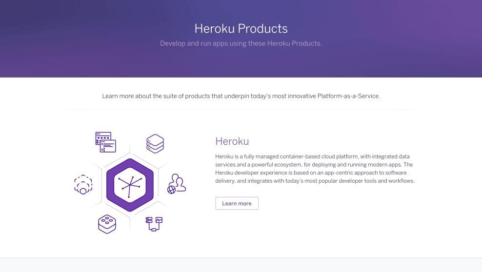 Heroku Top Web Design Product Page