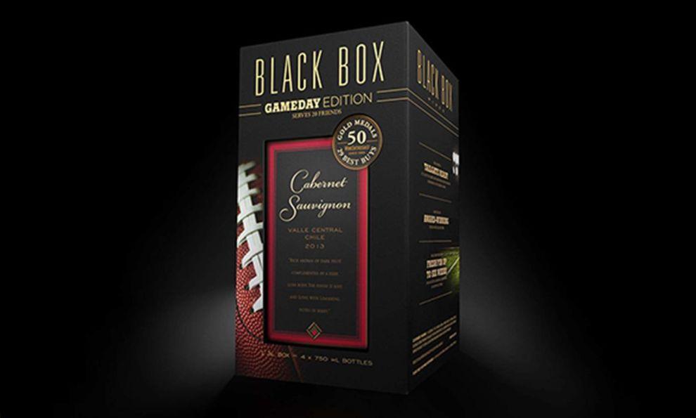 Black Box Wines Dark Package Design
