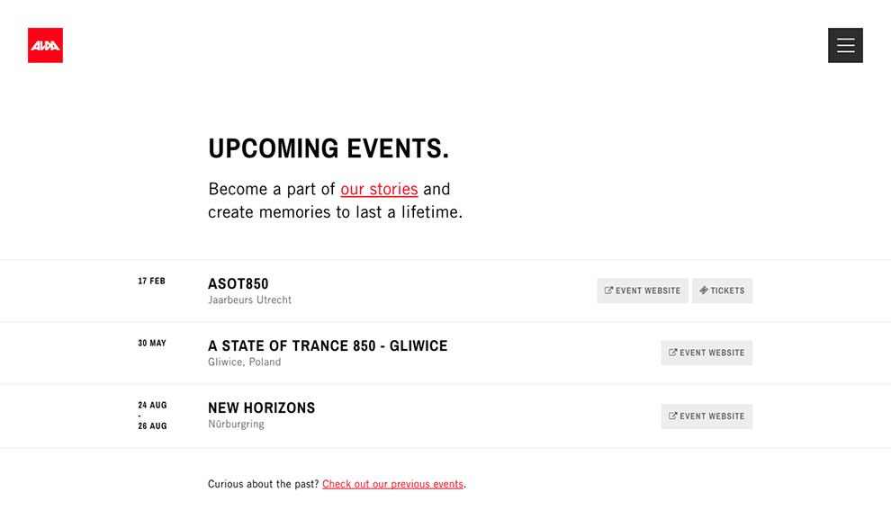 Alda Events Clean News Page